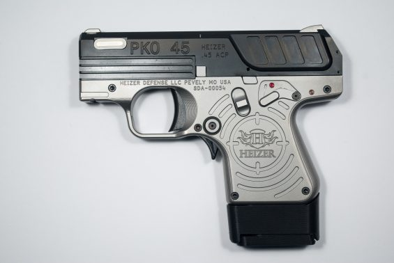 PKO 45 Tactical Black with extended magazine holder